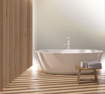 Bathroom fittings with a luxurious glossy finish